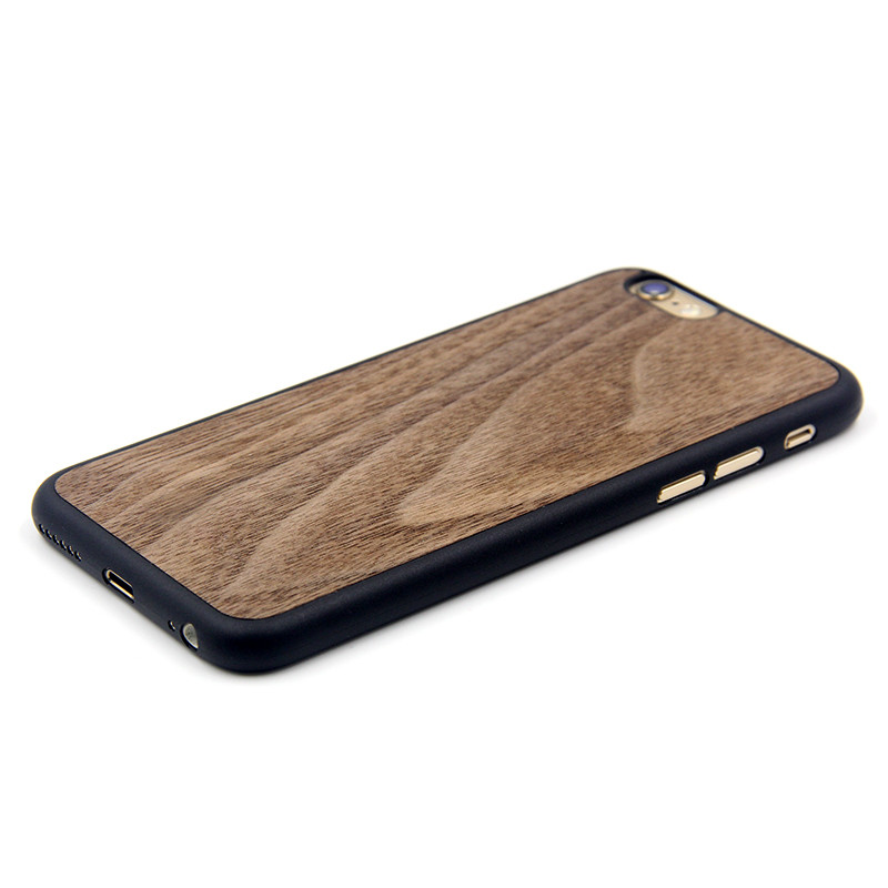 Wood Grain Solid Wood + TPU Best Quality Mobile Phone Cover Case for Iphone 7