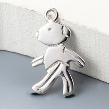 Walking man design tibetan silver jewelry 925 sterling tag charms wholesale