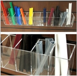 Clear Acrylic Trays and Troughs for Slatwall
