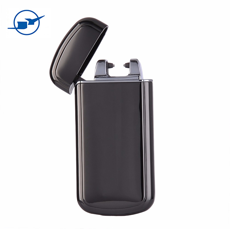 new design plated metal cigarette lighter charging lighter gravity sensor shake
