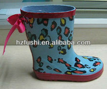 New Style Bow-tied Girls Wellies Rubber Rain Boots