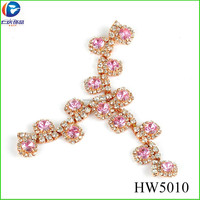 HW5010 red acrylic wholesale fashion shoe accessories sandal ornaments for ladies
