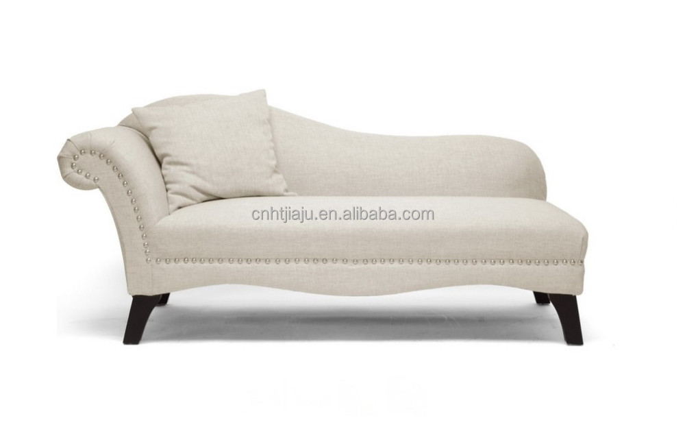 Beige Linen Modern Chaise Lounge Modern Chaise Lounge sofa bed home furnituer