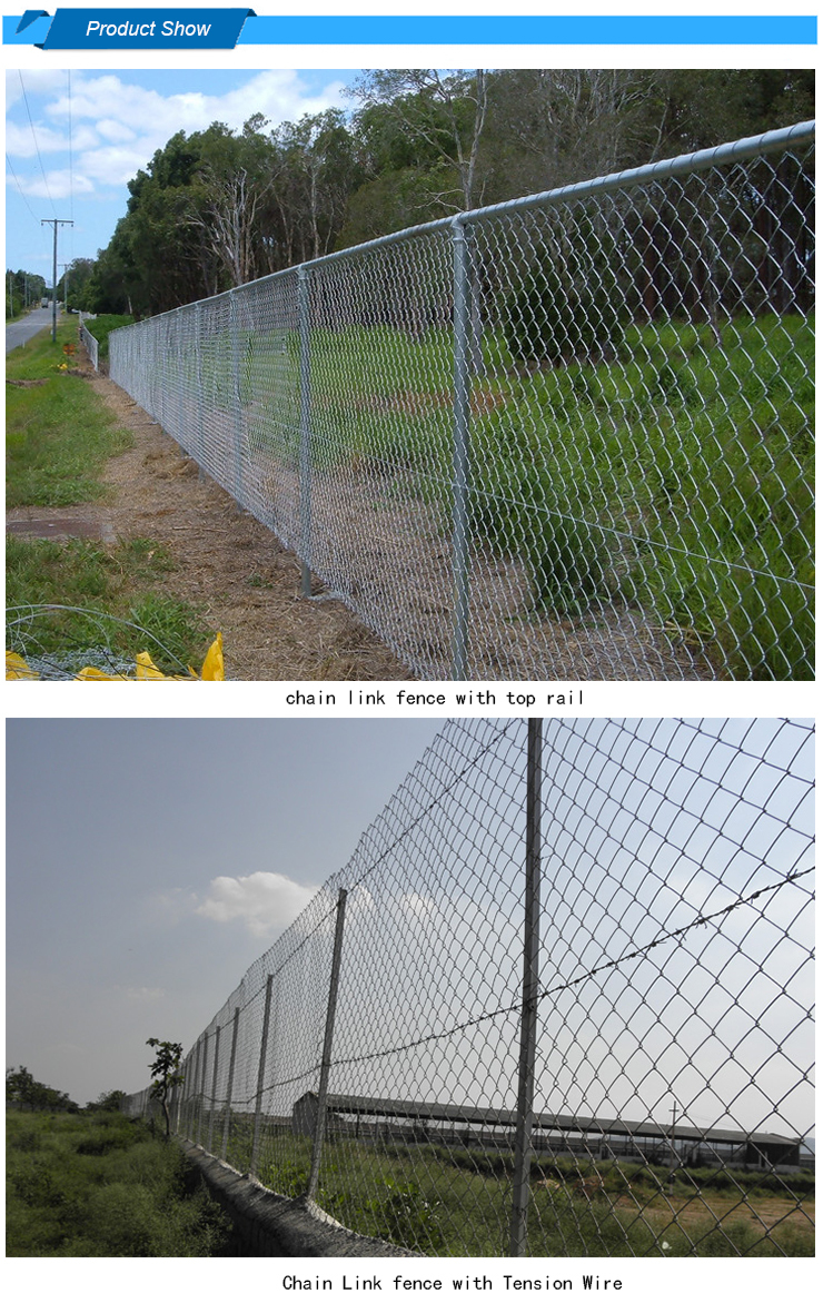 High quality 60*60 mm mesh chain link fence per sqm weight