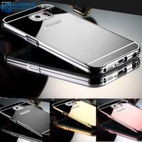 Luxury design mirror case For Samsung Galaxy J7 2016 J7108 aluminum 24k metal mirror hard back cover
