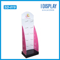 Recycled pop terse style pink lingerie cardboard hook display stand
