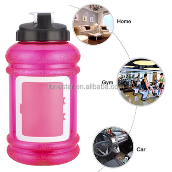 Amazon top selling Best colorful plastic 2200ml wide mouth water bottle with lid in AU