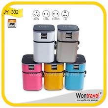 JY-302 France to Swiss travel adaptor,Euro to Switzerland travel adaptor plug connector