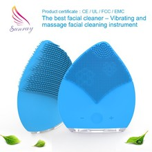 Electric anion silicone facial clean brush personal skin care device