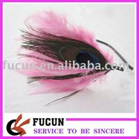 wholesale pink feather headband/hair accessories for party