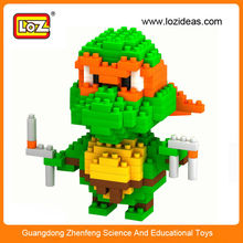 LOZ small ninja turtles brick toy children plastic building block for boy