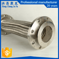 Vibration absorber 1 inch stainless steel braided corrugated flexible metal hose pipe