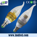 led candle bulb e14 5w 350-400lm with ce rohs mede in china