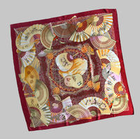 Classic Large Pure Silk Hand Hemmed Scarf
