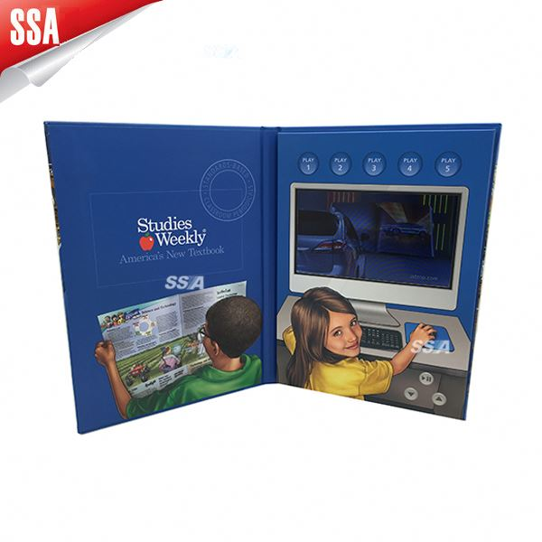 Customized advertising video book and video brochure for promotion and advertisement 4..3 inch, 7 inch and 2.4inch