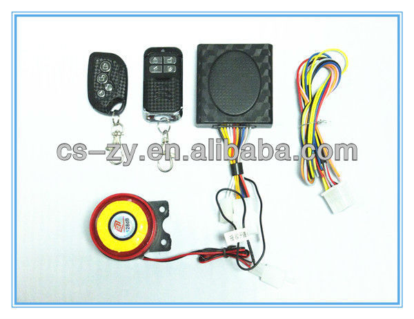 alarm moto/remote starter for motorcycle/electric bike alarm