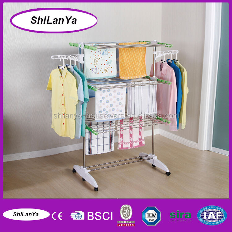 movable lift aluminium clothes drying rack