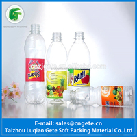Shrink Sleeve Wrap Adhesive PVC Plastic Bottles Labels