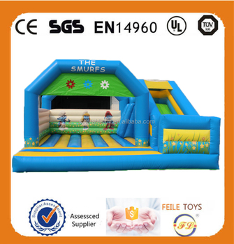 2015 new style inflatable jumping bouncer with slide for sale for adult