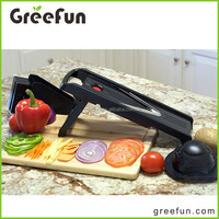 5 Pcs Set Good Grip V Blade Food Onion Slicer , Multifunction Vegetable Mandolin Slicer China Made With Retail Box Packing