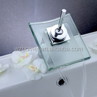 Brass handle hydro power chrome glass faucet