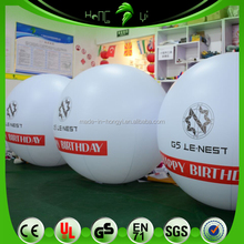 Customized White Inflatable Advertising Ball, Vividly Printing Company Logo Floating Spheres