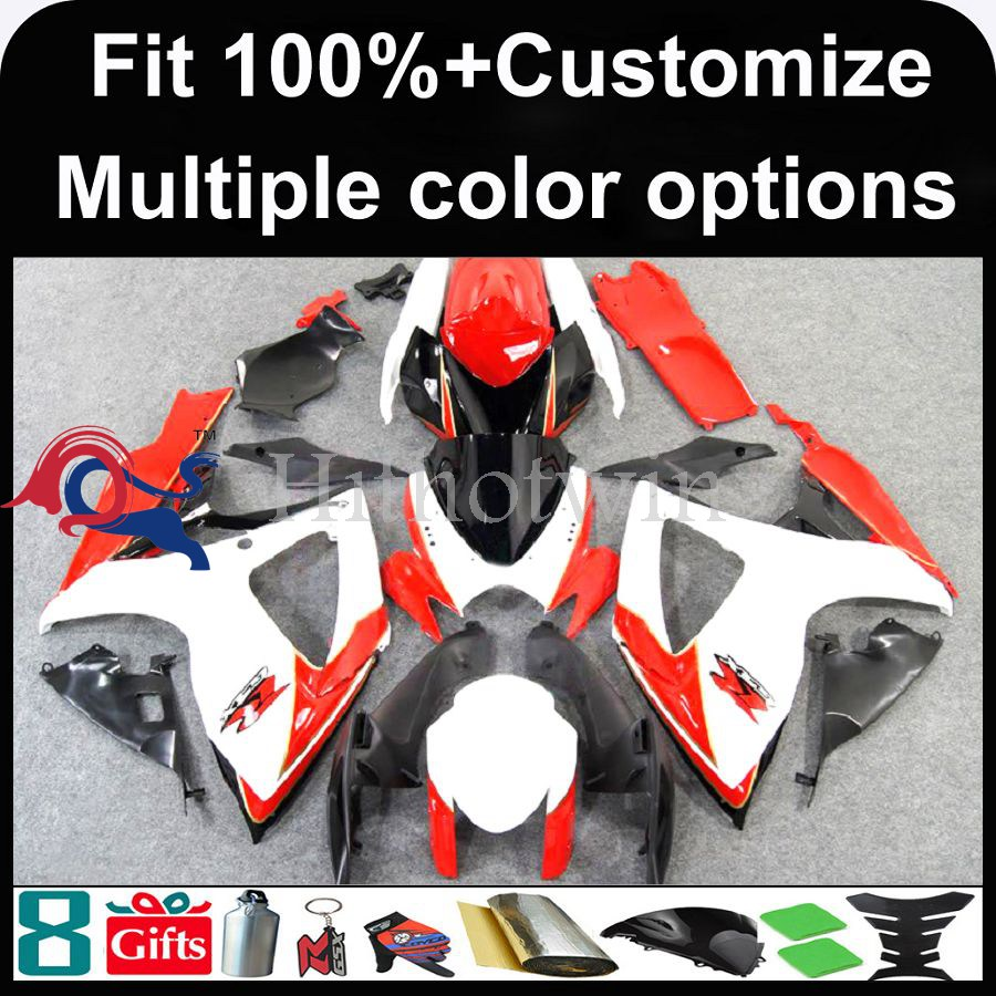 INJECTION MOLDING panels For Suzuki K6 GSX-R600 GSX-R750 2006 2007 GSX R GSXR600 GSXR750 GSXR 600 750 white red Fairing