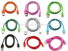Factory price high speed Fabric Braided 2.0/ 3.0 micro usb Charger cable