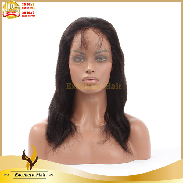 wholesale virgin brazilian yaki straight full lace wig with bang high density