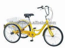2016 Hot selling three wheel bicycle/tricycle for disable people KB-TR-01