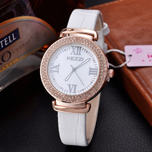 KEZZI Brand Luxury Diamond Simple Elegance Multi Color Watch Japan Movement Quartz Ladies Watch