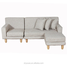 unique living room Fabric Sofa Set B206with solide wooden