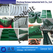 PVC conveyor belt with profile, attachment, cleat, <strong>holes</strong>, bar,skirt