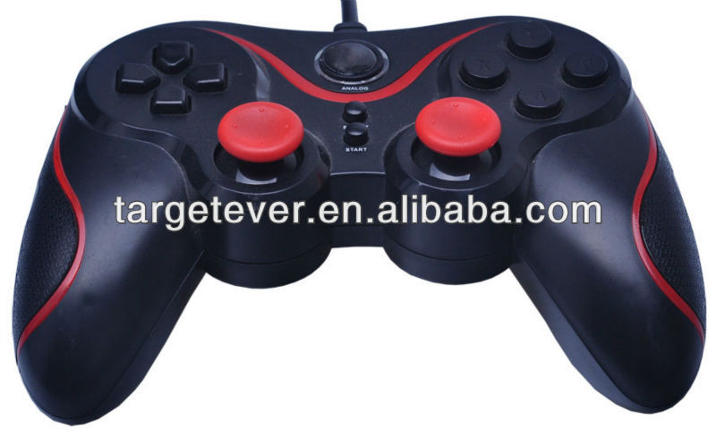 Hot sale wired with double vibration joypad for ps3 replacement parts