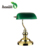 high quality good  antique green glass lamp
