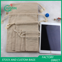 Eco-friendly durable drawstring jute wine packing bag