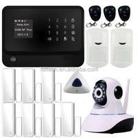 New WIFI alarmanlage ! Wifi+GSM+GPRS+RFID word menu GSM & WIFI home alarm system