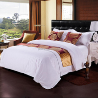 Pure White Star Hotel Bed Linen Polyester Cotton Luxury Collection Bedding