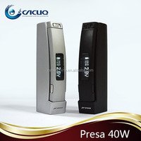 WISMEC Presa 40W 2600mAh MOD VV VW Battery 70 degree protection button lock big vapor e cigarette mod