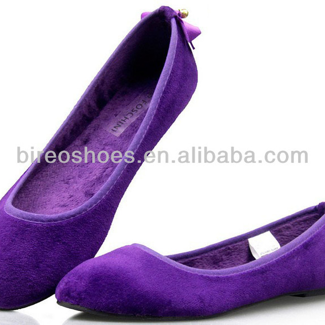 Purple ballet flats Fashion women flat shoes (style no D833. )