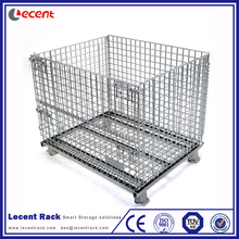 Heavy Duty Foldable Stacking Metal Wire Mesh Container For Storage