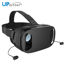 2017 Newest customize button retractable earphone 3d vr 360 headset virtual reality vr 3d glasses video