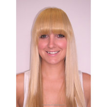 Blond human hair bangs clip in brazilian hair fringe hairpiece