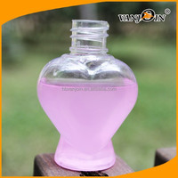 heart shape plastic bottle/plastic cosmetic bottle