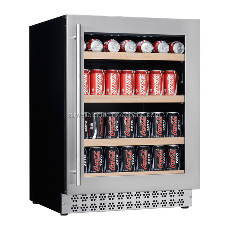 130L 150cans home Single-temperature built in Fan cooling wine fridge beverage cooler