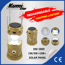 Portable Solar bright rechargeable led Camping Lantern KM-5800