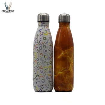 Hot-selling high quality17OZ/ 500ml cola shaped stainless steel water bottle