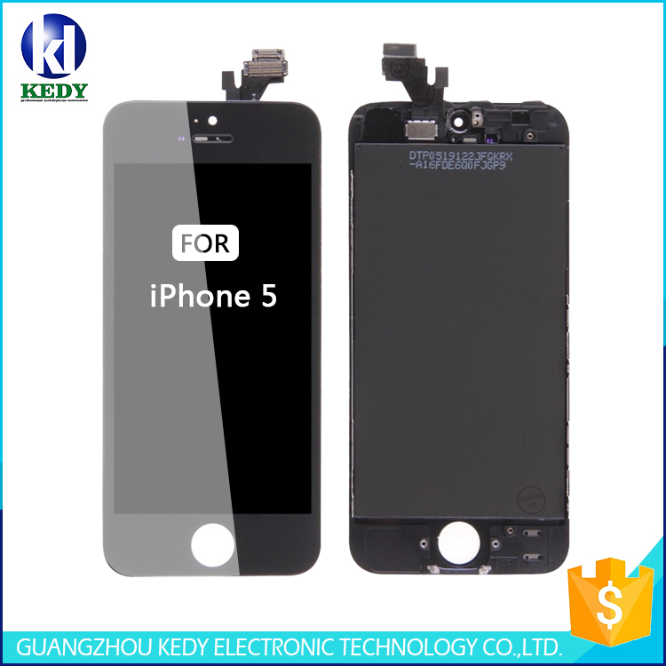 free shipping tianma lcd screen display panel complete full assembly for iphone 5
