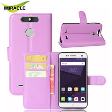 Factory Wholesale Wallet Card Holder Leather Case Flip Cover For ZTE Blade V8 Lite with Stand Function
