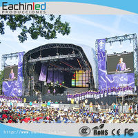 LED Rental Display,Slim Rental Hanging Aluminum Cabinet Moving Stage Exhibition Truss Outdoor P8.9 LED Display